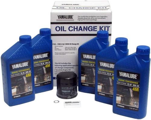 $59.95* GENUINE YAMAHA F150 & F200 ( 4 CYL) 10W30 Oil Change Kit LUB-MRNMR-KT-10 *In Stock & Ready To Ship!