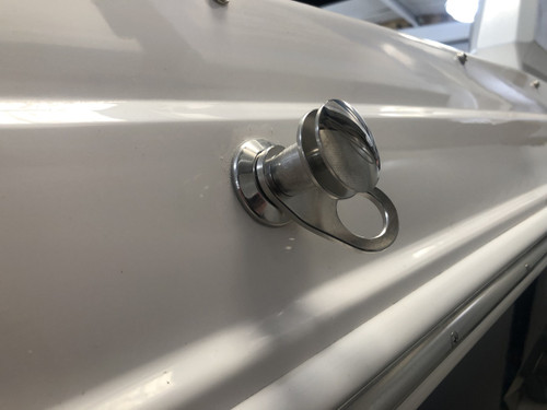 FENDER HOLDER STAINLESS STEEL PIN WITH CHAPARRAL LOGO *IN STOCK & READY TO SHIP! **