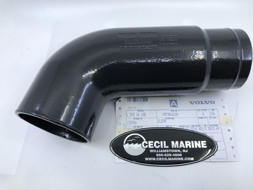 $215.95* GENUINE VOLVO  ELBOW 3863189 *Special order 10 To 14 days for delivery