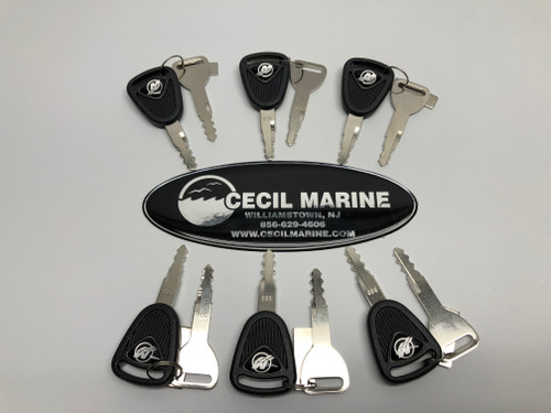 $18.95* Genuine MerCruiser DTS Ignition Keys - Includes 2 keys as shown  *In Stock & Ready To Ship!