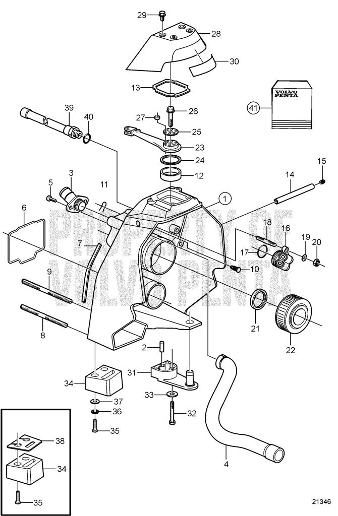 3888555 SX SX-M DP DPS Genuine Volvo Penta Transom Plate Gimbal Bearing