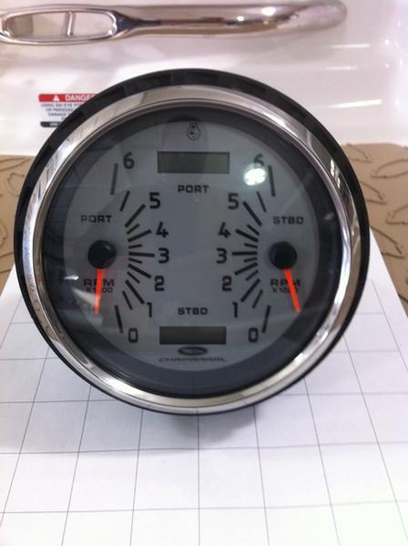 Tachometer 5 U0026quot  Dual Engine    Tcc700  In Stock  U0026 Ready To