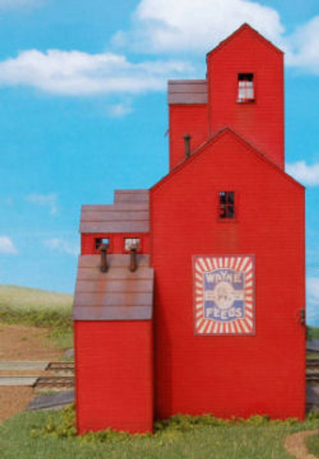 HO-SCALE COUNTY CO-OP (ELEVATOR) W/O OFFICE