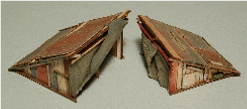 HO-SCALE HOBO LEAN-TO 2-PACK