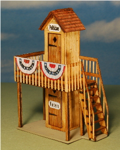 HO-SCALE 2-STORY PC OUTHOUSE