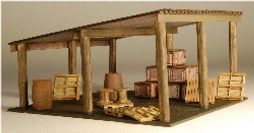 HO-SCALE OPEN STORAGE SHED