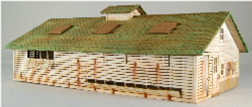 HO-SCALE CORNCRIB-CHICKEN COOP