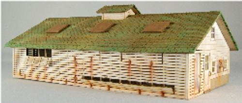 HO-SCALE CORNCRIB-CHICKEN COOP