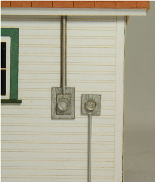 HO-SCALE METER SOCKET 4-PACK