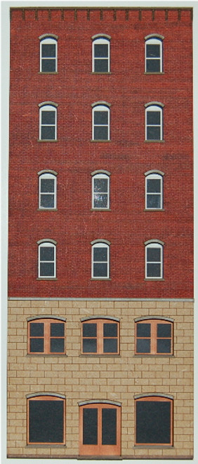 19020 - HO-SCALE OFFICE 6-STORY-A (ARCHED) BACKDROP