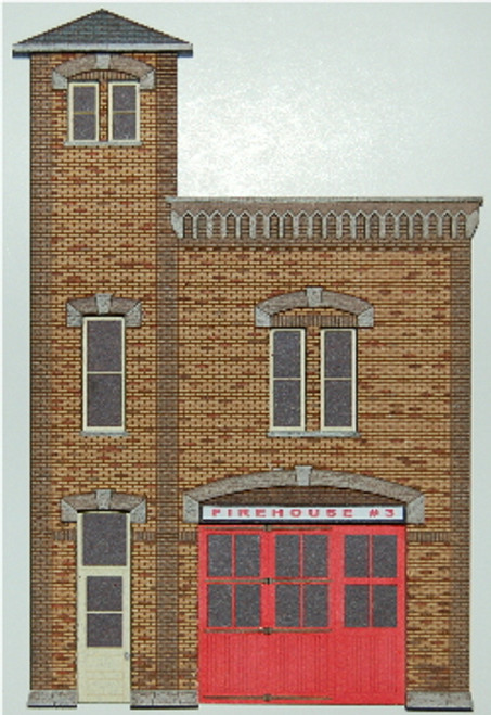 19024 - HO-SCALE FIREHOUSE #3 BACKDROP