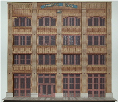 19025 - HO-SCALE LINDSAY BROS. - ENTRY BACKDROP