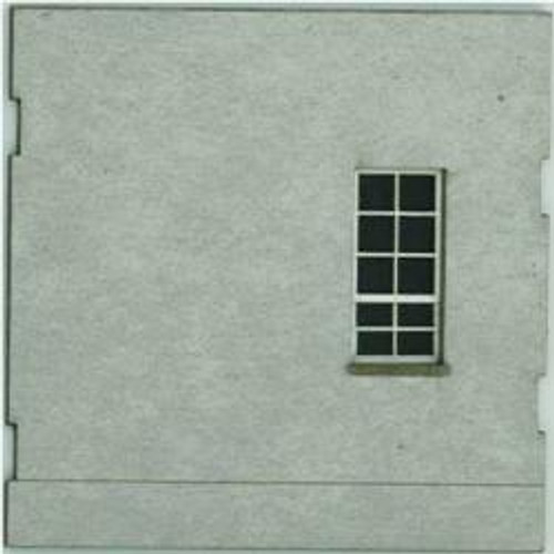 HO-SCALE: FACE (BLANK-WINDOW) CONCRETE 4-PACK