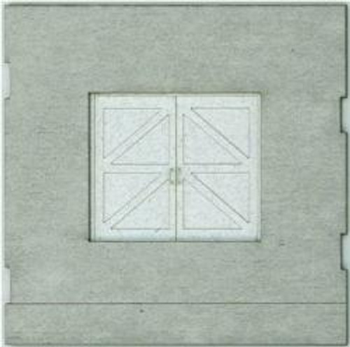 HO-SCALE: FACE (TRAIN FREIGHT DOOR) CONCRETE 4-PACK