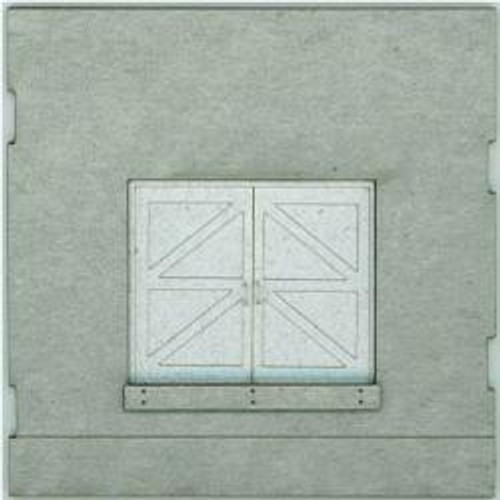 HO-SCALE: FACE (TRUCK DOCK DOOR) CONCRETE 4-PACK