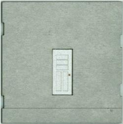 HO-SCALE; FACE (TRUCK DOCK ENTRY DOOR) CONCRETE 2-PACK