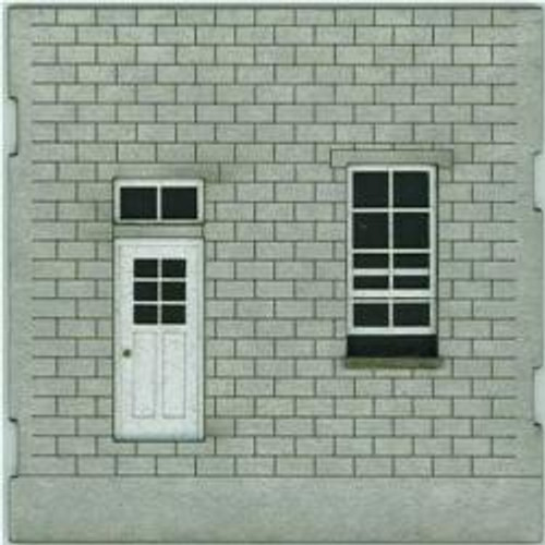 HO-SCALE: FACE (DOOR-WINDOW) CINDER BLOCK 4-PACK