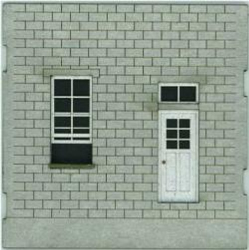 HO-SCALE: FACE (WINDOW-DOOR) CINDER BLOCK 4-PACK
