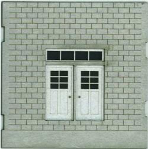 HO-SCALE: FACE (DOUBLE DOOR) CINDER BLOCK 2-PACK