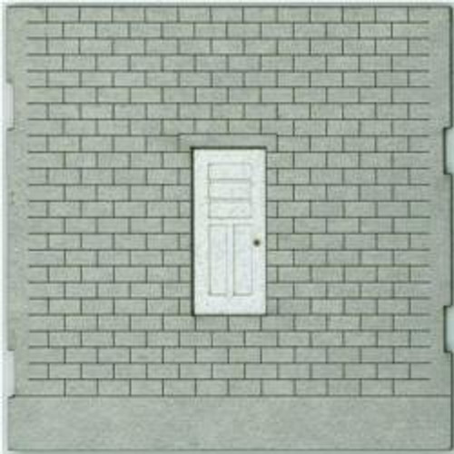 HO-SCALE: FACE (TRAIN FREIGHT ENTRY DOOR) CINCER BLOCK 2-PACK