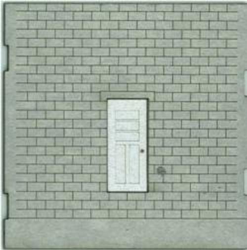 HO-SCALE; FACE (TRUCK DOCK ENTRY DOOR) CINDER BLOCK 2-PACK