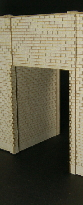 HO-SCALE: FACE (PASS THROUGH) CINDER BLOCK 1-SET