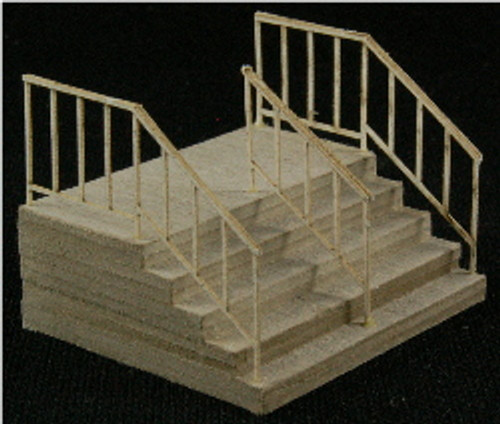 HO-SCALE: ADD-ON (DOUBLE STAIR) 2-PACK