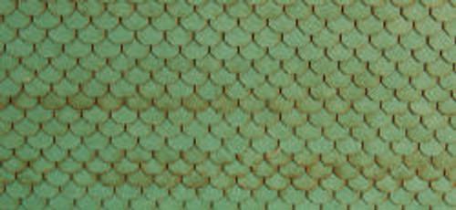 HO-SCALE ROOF SHINGLES SCALLOPED (GREEN)