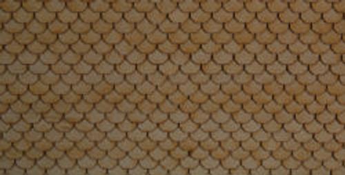 HO-SCALE ROOF SHINGLES SCALLOPED (WHITE)