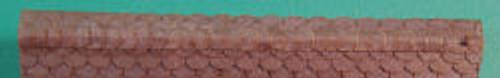 HO-SCALE RIDGE CAP SCALLOPED (BLACK)