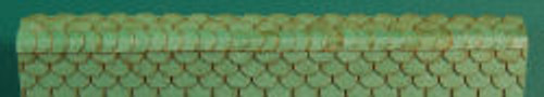 HO-SCALE RIDGE CAP SCALLOPED (GREEN)