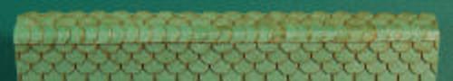 HO-SCALE RIDGE CAP SCALLOPED (GREEN)