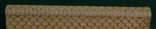 HO-SCALE RIDGE CAP SCALLOPED (WHITE)