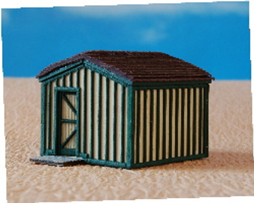 N-SCALE STORAGE SHED