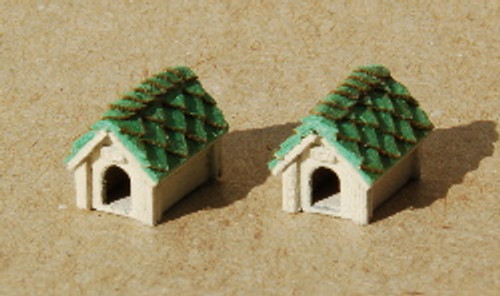 N-SCALE DOG HOUSE 2-PK