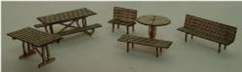 N-SCALE TABLES & CHAIRS