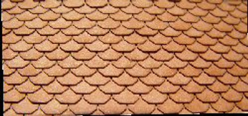 N-SCALE ROOF SHINGLES SCALLOPED (WHITE)