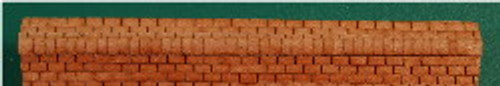 N-SCALE ROOF SHINGLES 3-TAB RIDGE CAP (BROWN)