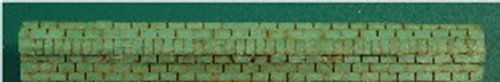 N-SCALE ROOF SHINGLES 3-TAB RIDGE CAP (GREEN)