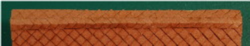 N-SCALE ROOF SHINGLES DIAMOND RIDGE CAP (BROWN)