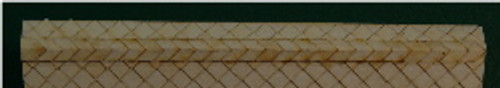 N-SCALE ROOF SHINGLES DIAMOND RIDGE CAP (WHITE)