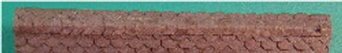 N-SCALE ROOF SHINGLES SCALLOPED RIDGE CAP (BLACK)