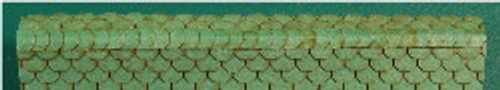 N-SCALE ROOF SHINGLES SCALLOPED RIDGE CAP (GREEN)