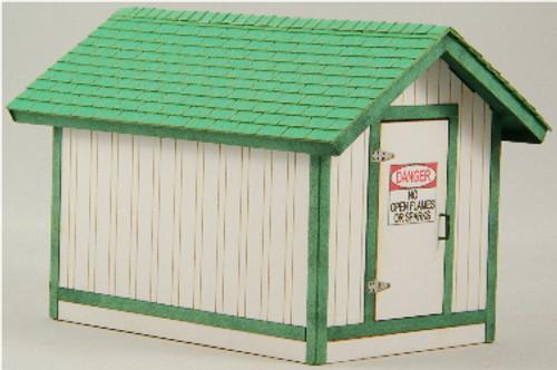 O-SCALE GAS HOUSE