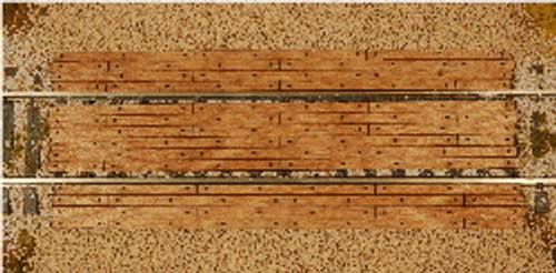 S-SCALE GRADE CROSSING (STRAIGHT)