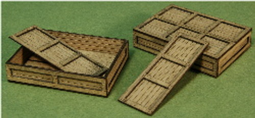 A-SCALE PLANKED CRATE-6 2-PACK