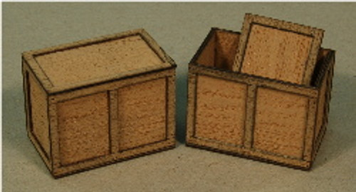 A-SCALE PLYWOOD CRATE-7 2-PACK