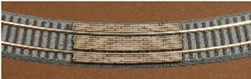 "Z-SCALE GRADE CROSSING (220MM RAD - 8-11/16"" RAD) 2-PACK"
