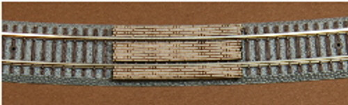 Z-SCALE GRADE CROSSING (490MM RAD) 2-PACK
