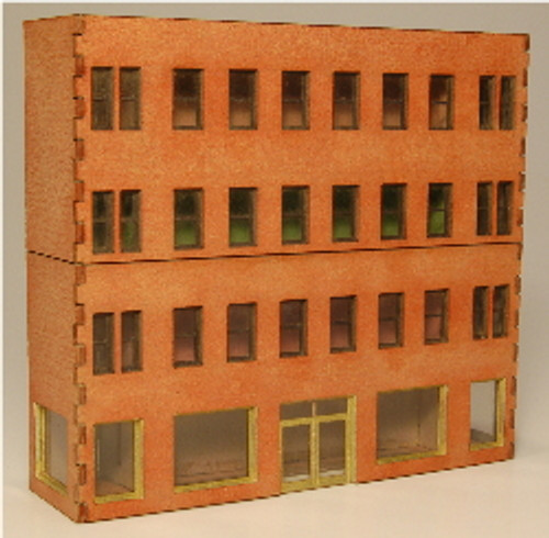 Z-SCALE MODULAR BACKDROP OFFICE 4-WALL-A